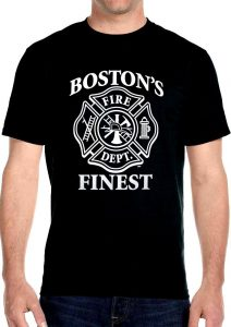 Boston's finest fire dept biker t-shirt