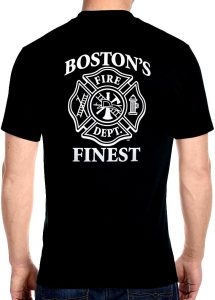 Bostons finest fire dept biker tee