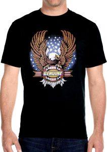 american genuine bald eagle biker t-shirt