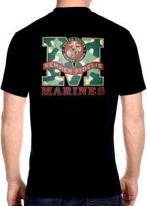 marines semper fidelis biker t-shirt