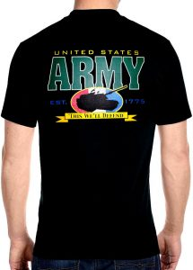 mens army and tank biker tee