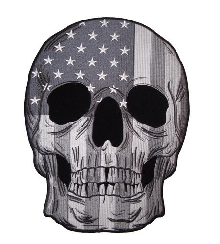 grey subdued flag skull