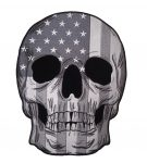 subdued gray skull with american flag