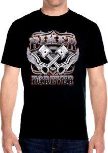 mens biker forever biker t-shirt