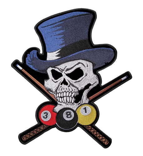 billiard skull wearing top hat
