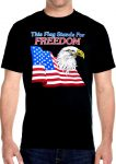mens american flag and eagle biker t-shirt