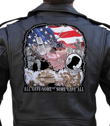 patriotic POW-MIA All Gave Some biker patch