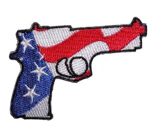 patriotic pistol patch facing right