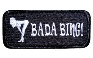 bada bing sexy girl biker patch