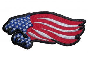 american flag eagle biker patch