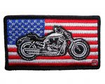 patriotic motorcycle biker patch