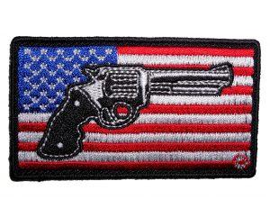 patriotic pistol american biker patch