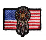 patriotic native american dream catcher flag biker patch