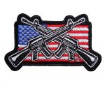 patriotic crossed rifles biker patch