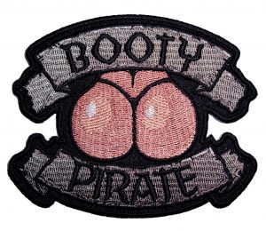ladies booty pirate biker patch
