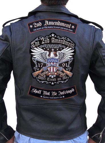 2nd amendment biker patch set