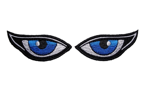 ladies blue eyes biker patches