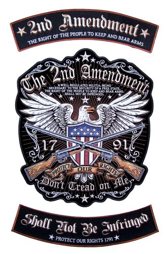 3 piece second amendment rocker patch