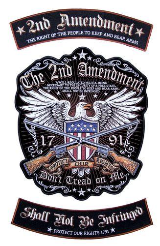 3 piece second amendment rocker patch