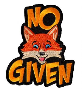 No Fox Given funny biker patch