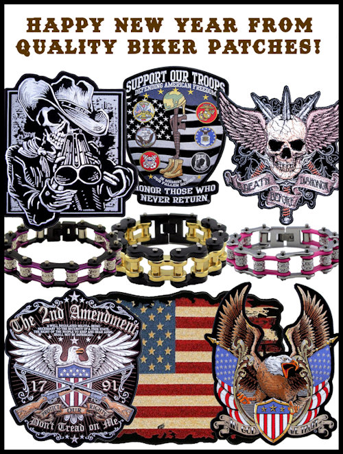 Happy New Year from Quality Biker Patches