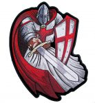 Red Christian Crusader Templar Knight