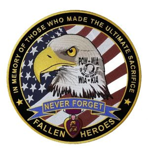 Patriotic fallen heroes POW-MIA patch