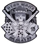 Dead man's hand aces and eights embroidered biker patch
