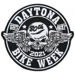 Daytona bike week skull patch