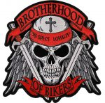 Brotherhood of bikers embroidered biker patch