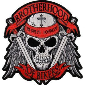 Brotherhood of bikers embroidered biker patch