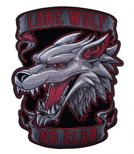Lone Wolf No Club large patch
